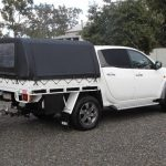 Ute Canopies Black with window