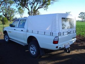 Ute Canopies white with window