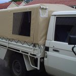 Ute Canopies Cream with window