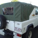 Ute Canopies Green with window