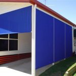 solid blue Cord and Pulley Blinds
