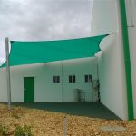 Green shade sail