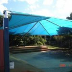 Blue shade structure