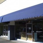 Blue Fixed Frame Awnings