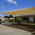 Cream Shade Structure over car park