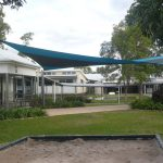 Green Shade Sail at School