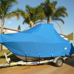 Full Boat Cover on Trailer