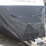 Black Front Nose Stone Guard Caravan Cover
