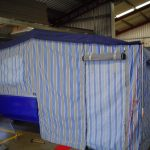 Caravan Annex Blue Striped