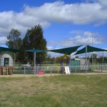 Green Shade Sail over Playground