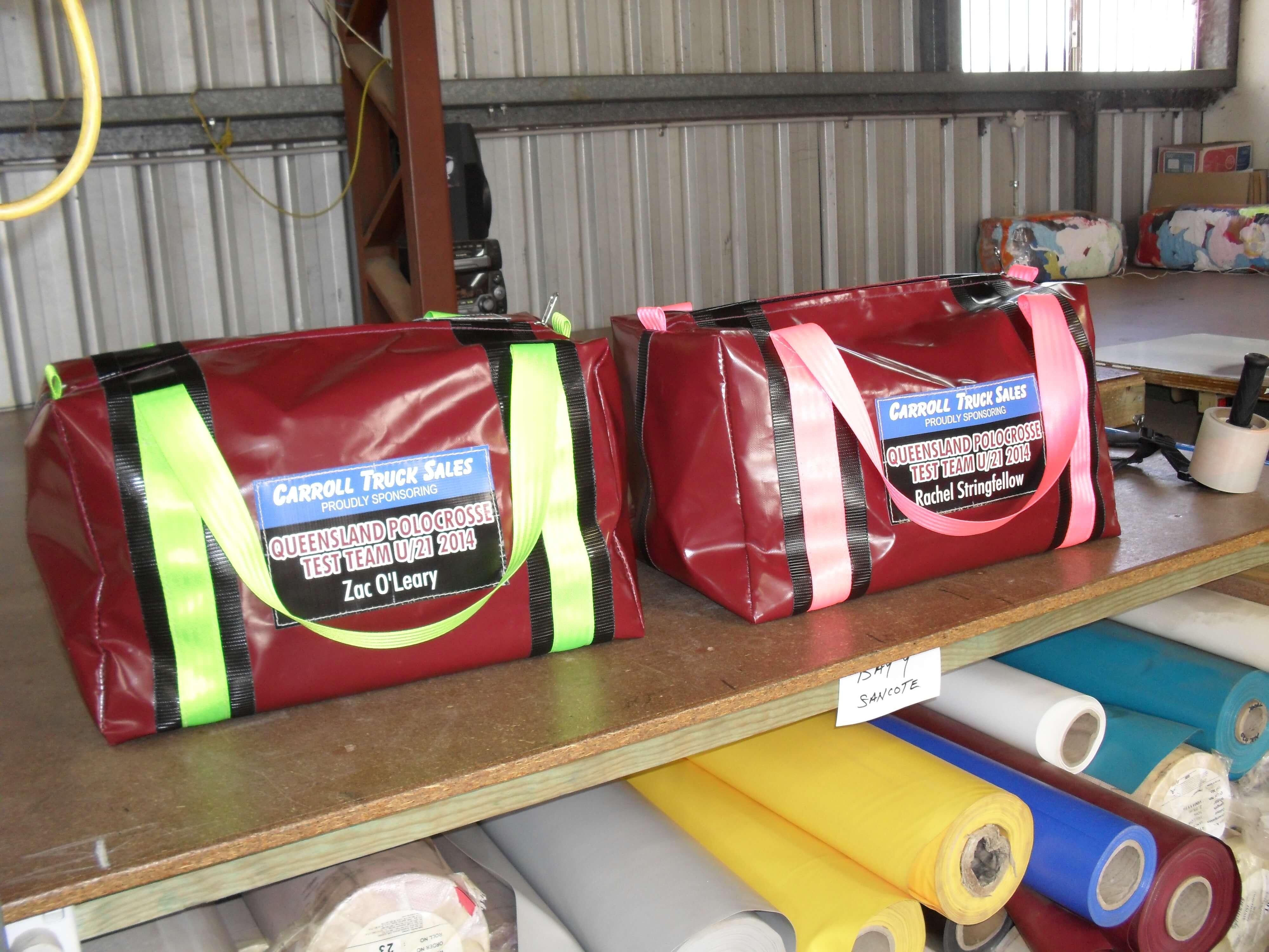 Vinyl Gear Bags Maroon