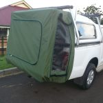 Ute with hanging cover